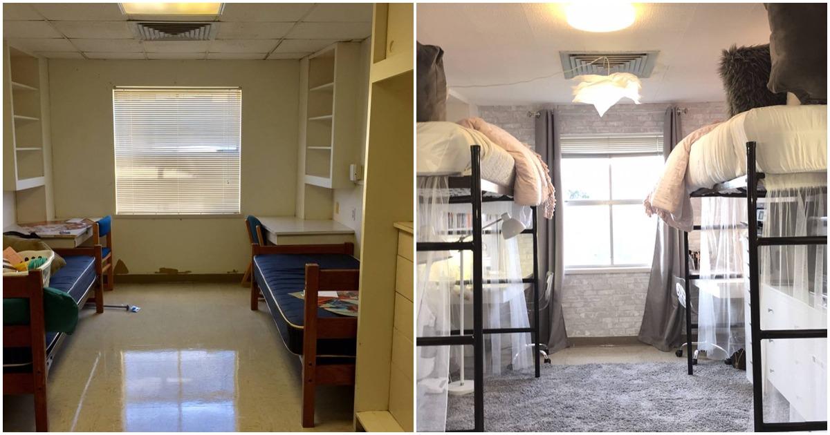 Две студентки превратили комнату в общежитии в невероятно уютную спальню
