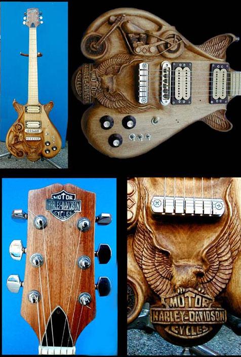 Резные гитары от Dug Rowell