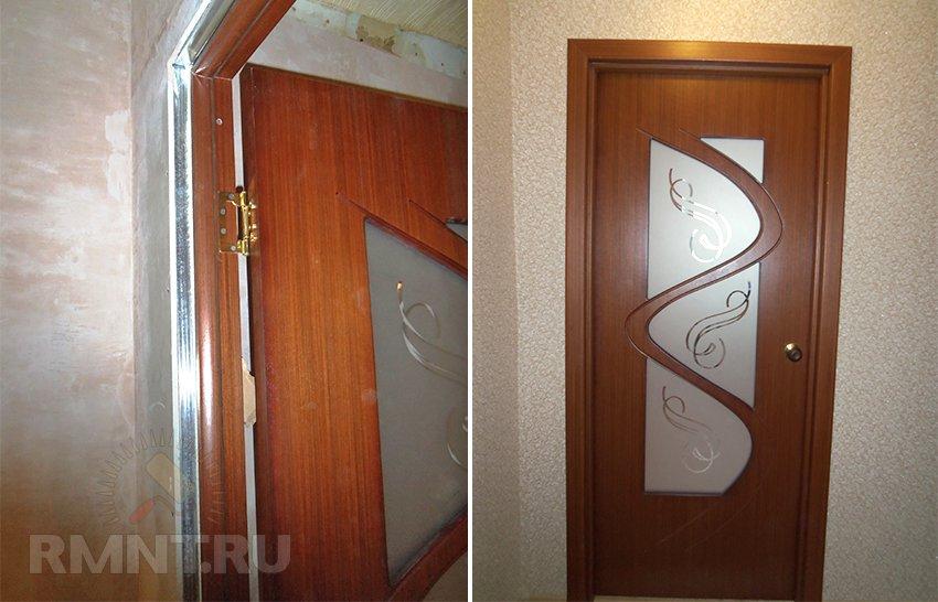 Установка межкомнатных дверей в перегородку