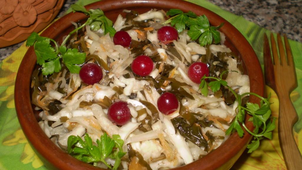 Капуста квашеная морской капустой (без соли)