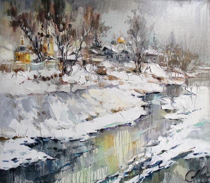 Чарина Анна. Лёд на Москва-реке. Коломна