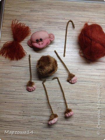 Игрушка Мастер-класс Новый год Шитьё МК по обезьянке Капрон Проволока Пряжа Ткань фото 22