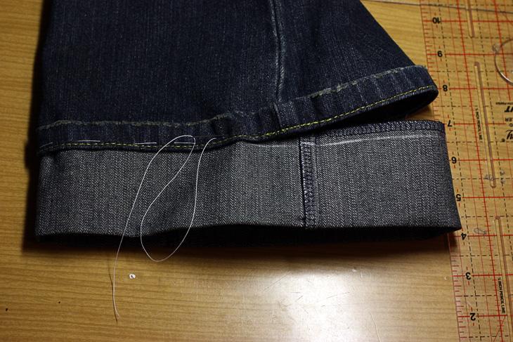 ИГОЛКА С НИТОЧКОЙ. Как удлинить джинсы