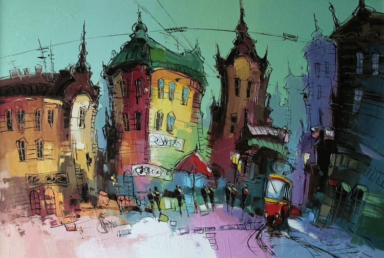 Художник Дмитрий Меуш. Под небом голубым есть город золотой
