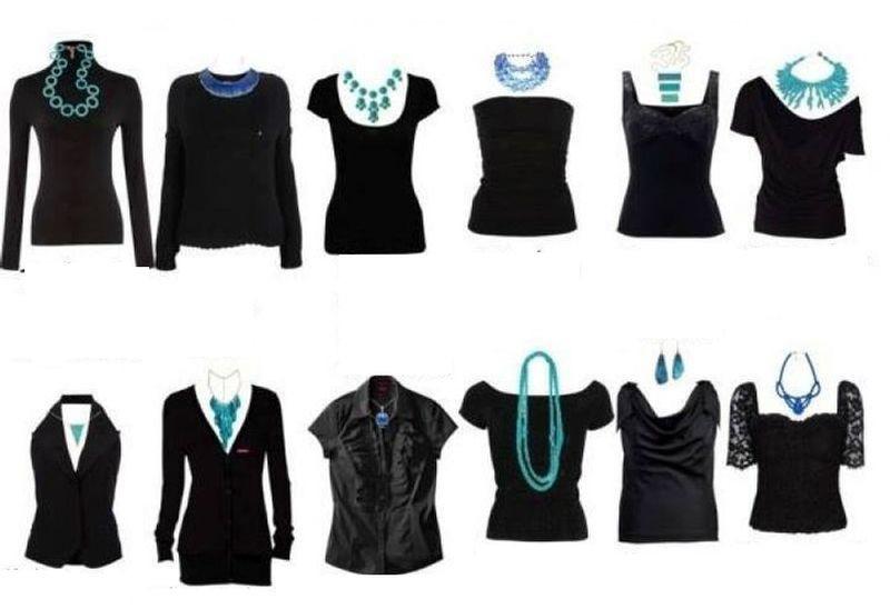 7. Варианты подбора украшений под вырез горловины одежды девушки, мода, одежда, стиль, шпаргалка