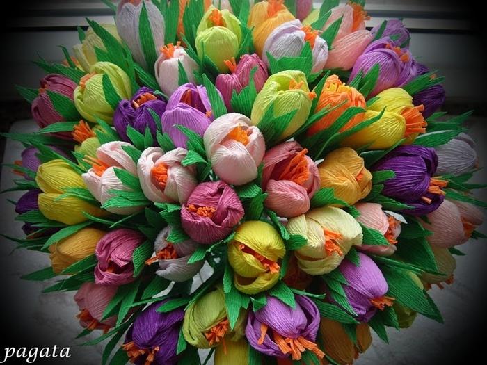 Цветы и букеты из бумаги своими руками
