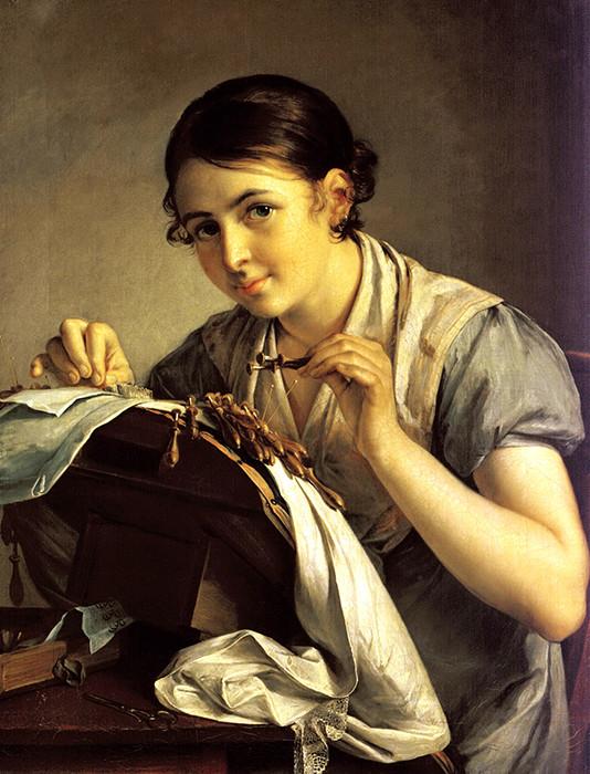 «Кружевница» девушки, живопись, история, картины, портреты