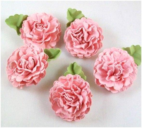 Бумажные цветы для скрапбукинга своими руками