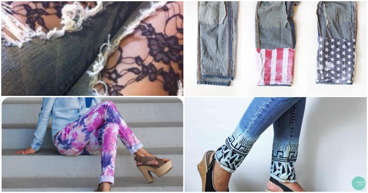 10 модных способов дать старым джинсам вторую жизнь