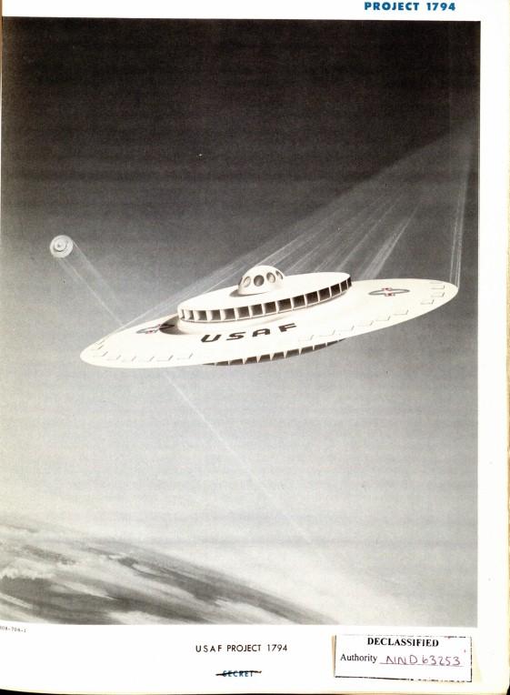 Архив США опубликовал чертежи секретной летающей тарелки