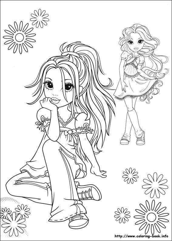 Раскраски для девочек большие картинки