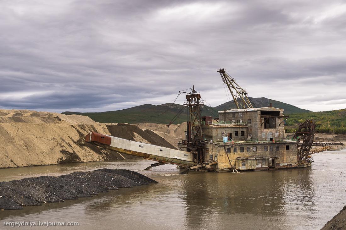 Как сегодня  добывают  золото на Колыме . Россия