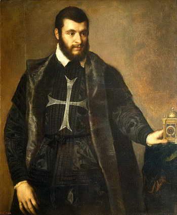 Тициан. Портрет мальтийского рыцаря с часами