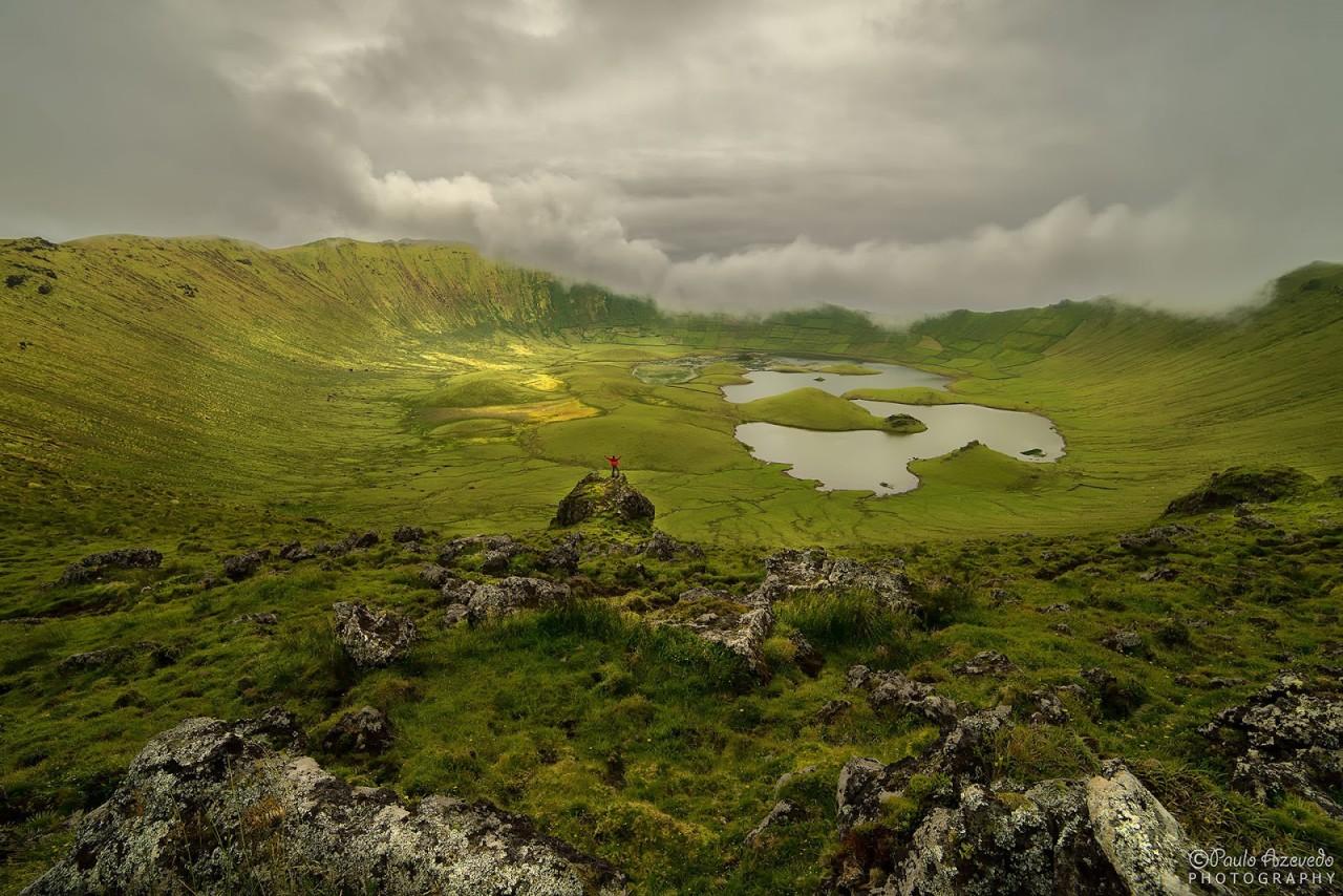 Lagoa do Caldeirão красота, озера, природа