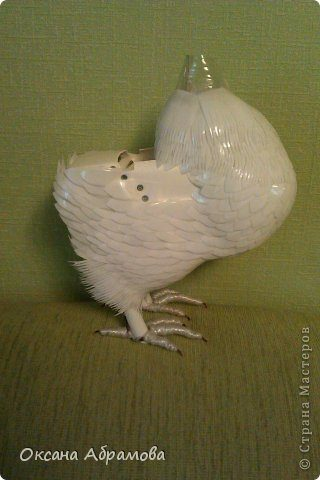 Королевский голубь из пластиковых бутылок. Пошаговый мастер класс.