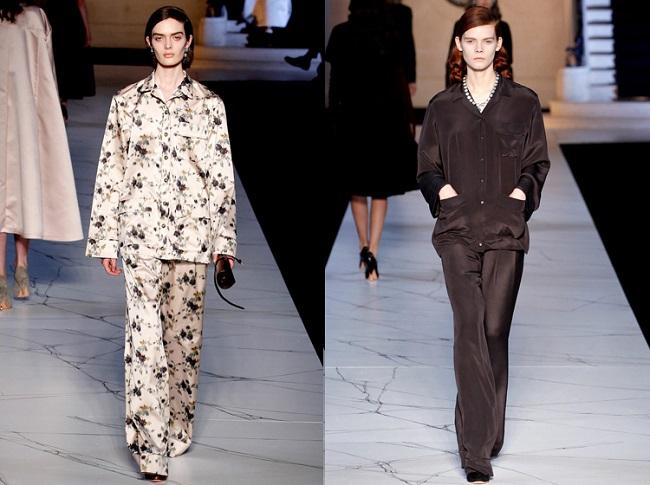 Пижамный стиль в женской одежде. Фото брюк, костюмов, шорт