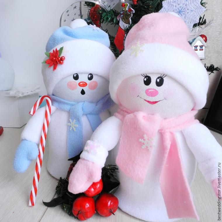 Как сделать своими руками снеговика из материала