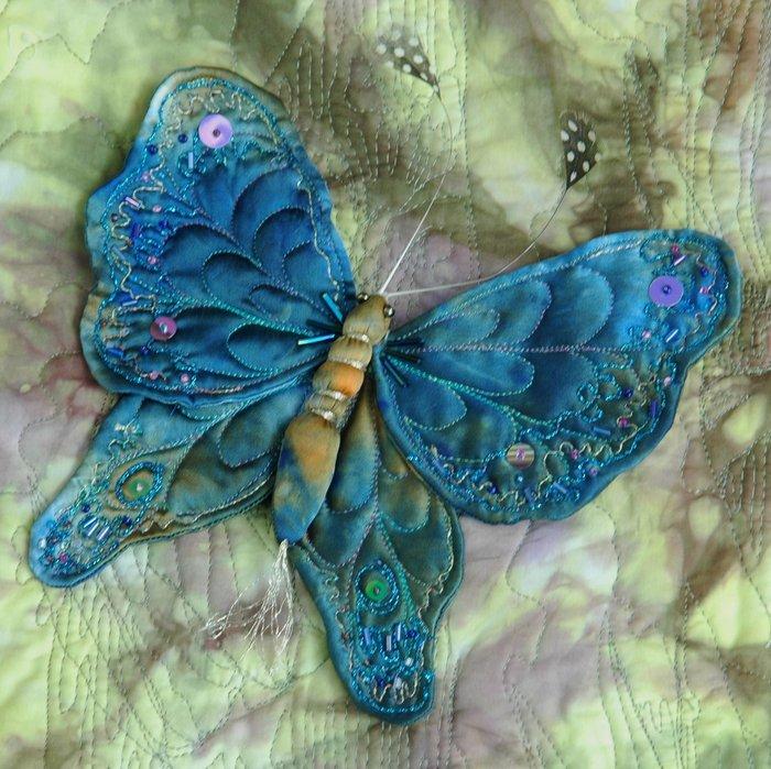 Сделать бабочку из ткани