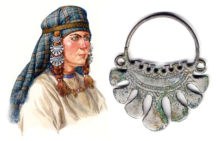 Височные украшения древних славян - хронология, типология, символика