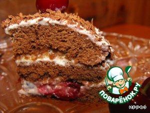Бисквит за 3 минуты и мини-тортик из него.