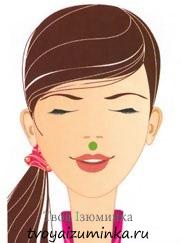 Точечный массаж над верхней губой