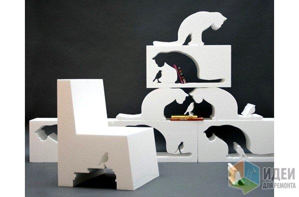 Декоративная полка, мебель в виде животных