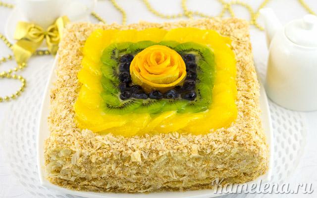 Торт «Наполеон» из слоеного теста