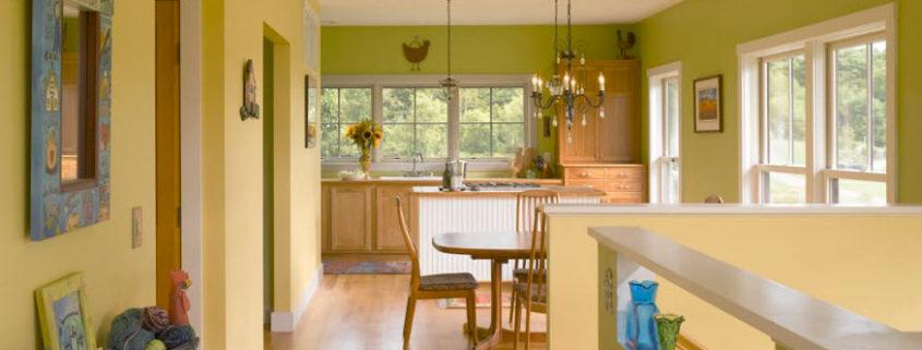 Фисташковый цвет в интерьере современного жилища