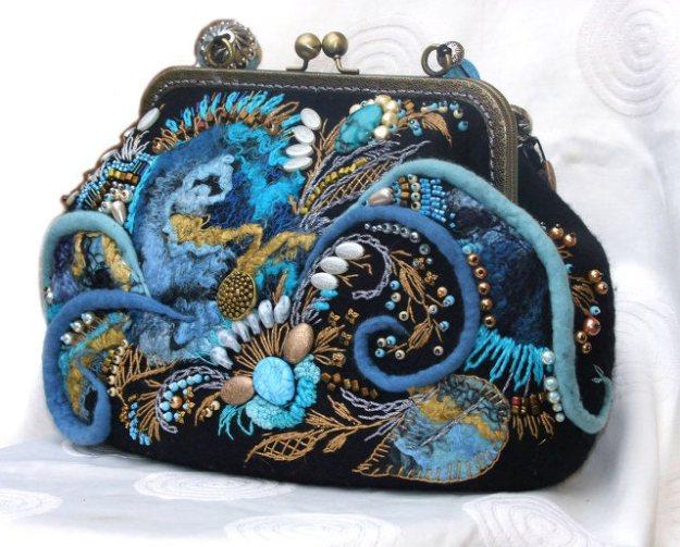 Валяные арт-сумки «Весна под рукой»