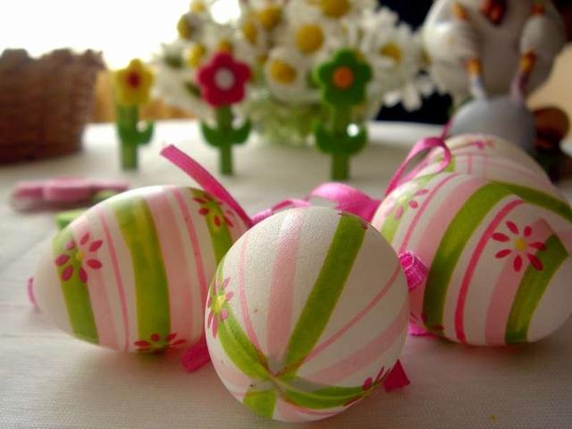 Яйца на Пасху.