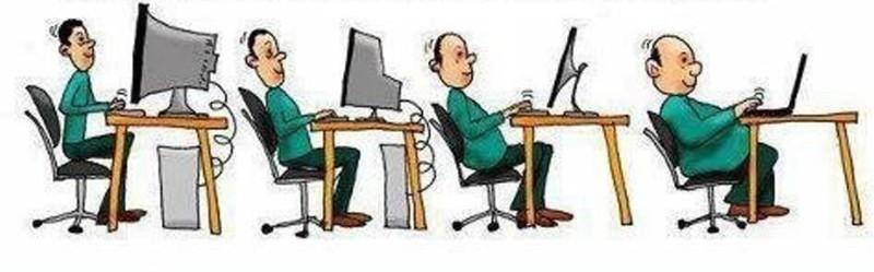 Эволюция офисного работника и его верного помощника, компьютера. история, прикол, юмор