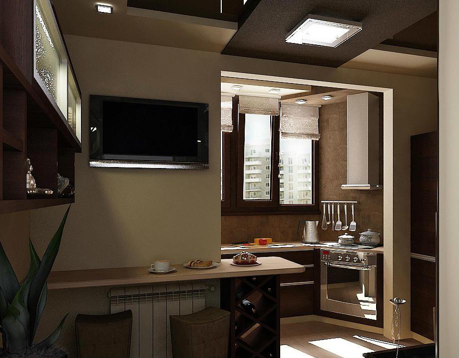 Дизайн лоджии с кухней фото