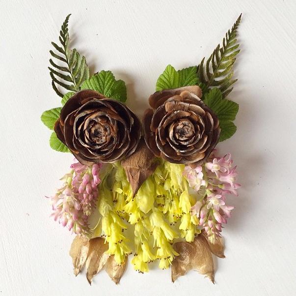 Коллажи - гербарии от Bridget Collins