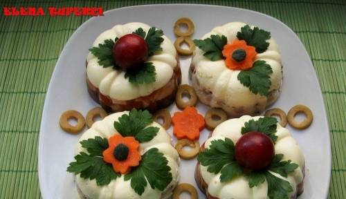 Рецепт закуски «Пирожные с курицей»