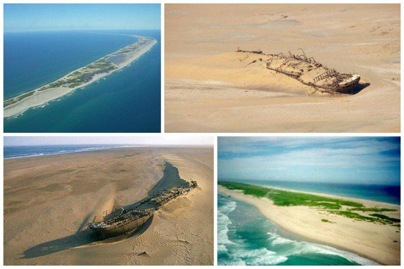 """Еще один """"пожиратель"""" кораблей - остров Сейбл, расположенный недалеко от Канады в Атлантическом океане жизнь, земля, интересное, необитаемые острова, факты"""