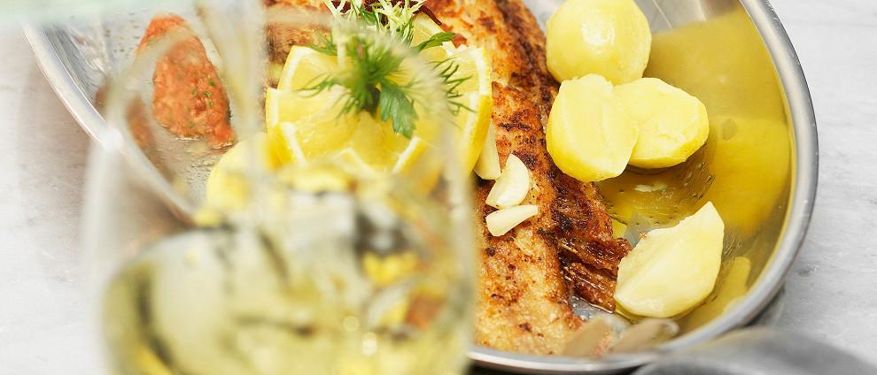 СЕМЕЙНЫЙ УЖИН. Рыбные рецепты. Морской язык с картофелем