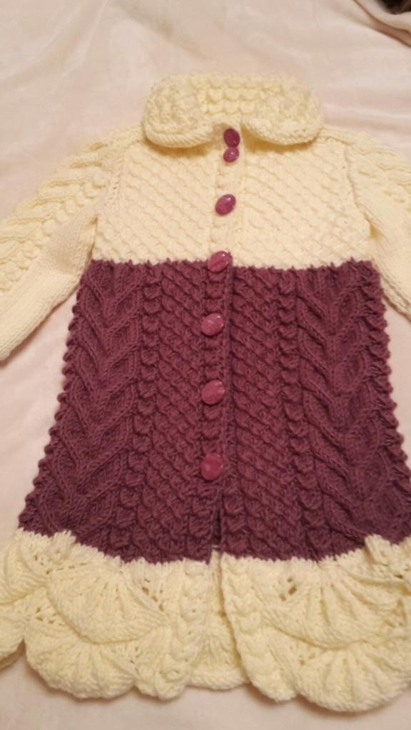 Вязание с берсановой пальто 53