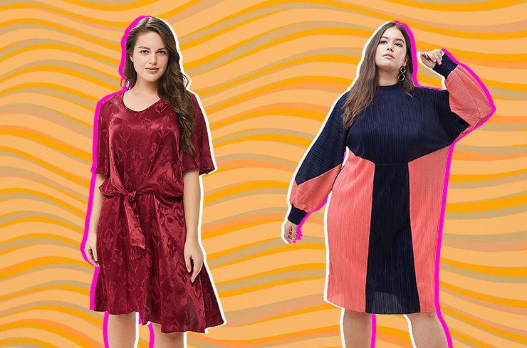 Стильные платья для девушек plus-size