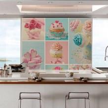 Идеи интерьера кухни с фотообоями-1