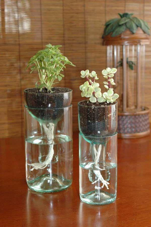 reciclado de botellas de plastico - jarrones y macetas 1