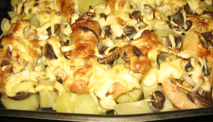 опята картошка в духовке рецепт