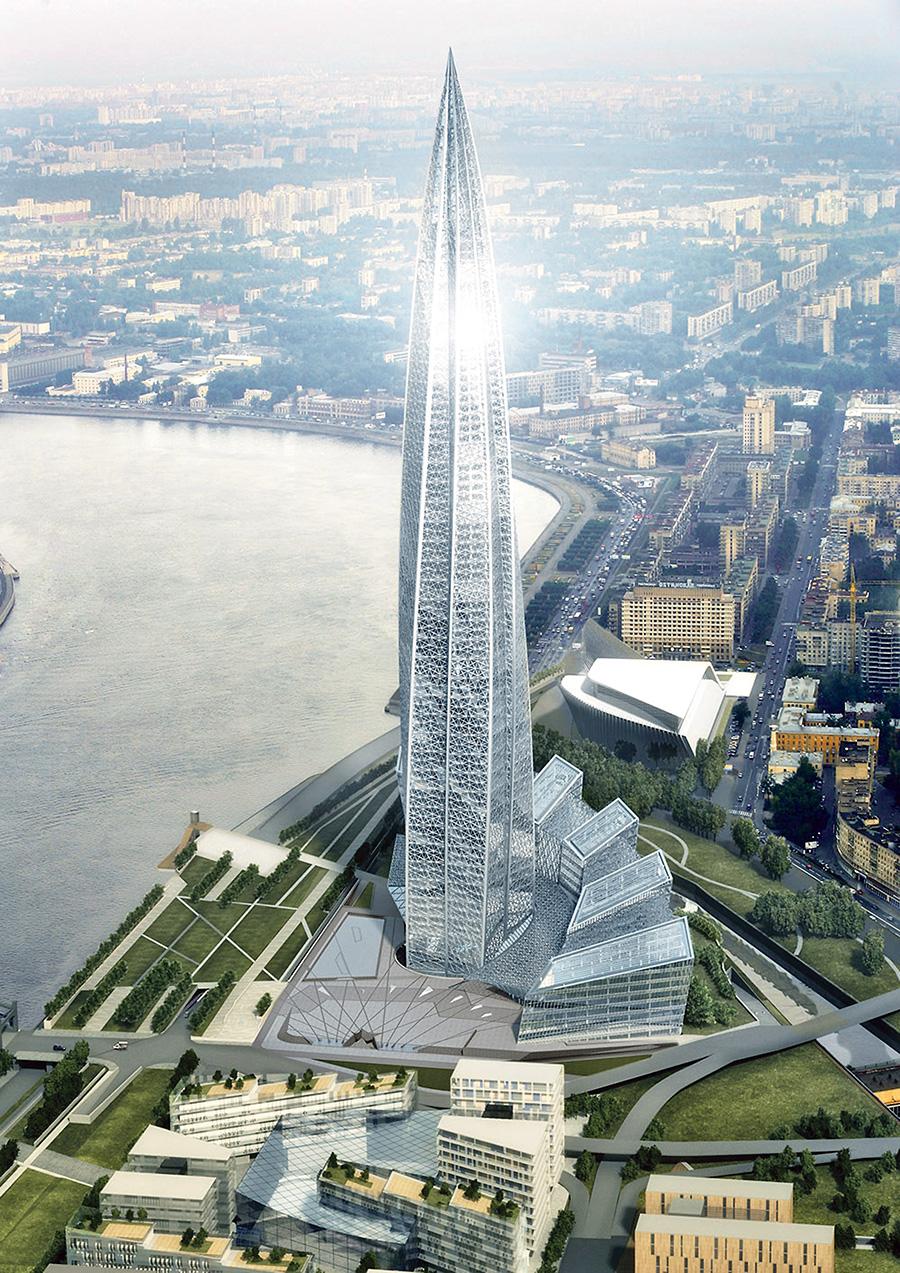 Как строится ЛАХТА-центр в Питере