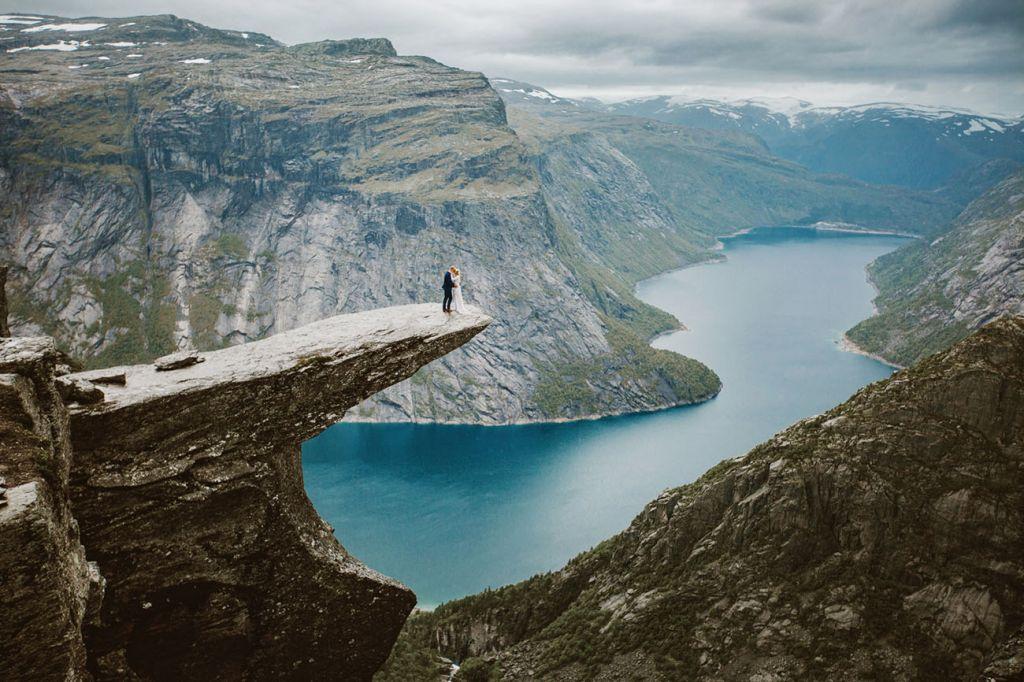 Скала «Язык Тролля». Норвегия