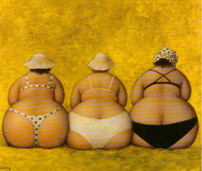 Ода пятой точке: симпатичные толстушки на картинах французской художницы