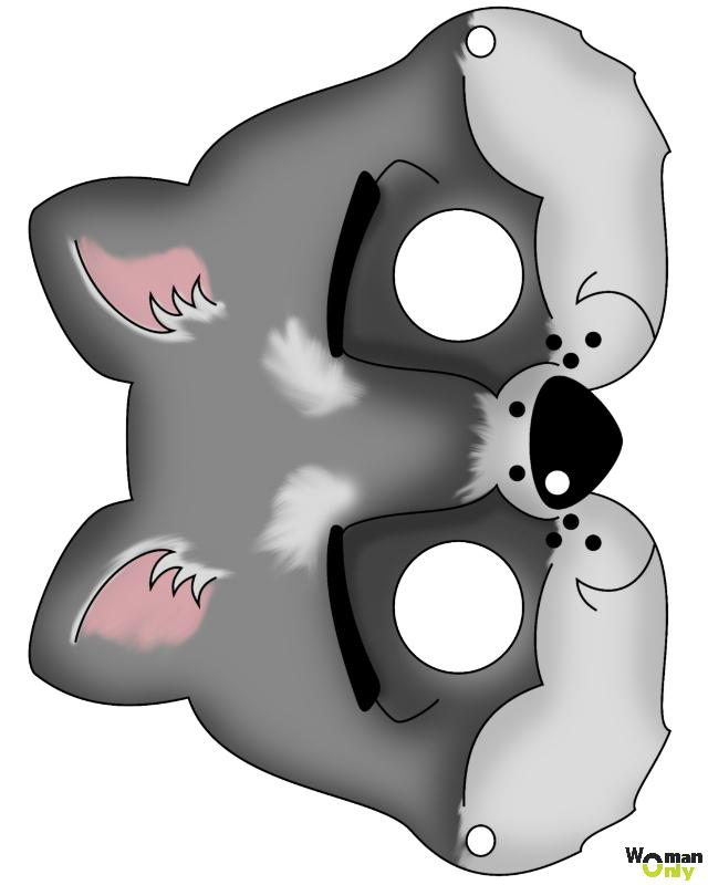 Новогодние маски из бумаги - праздник уже с вами маска волка