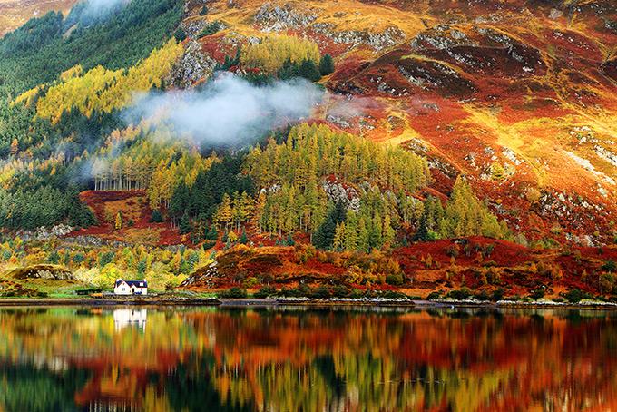 Красочная осенняя Шотландия