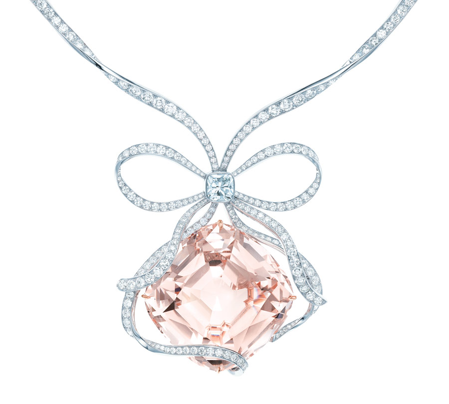 The Tiffany Anniversary Morganite necklace, cush