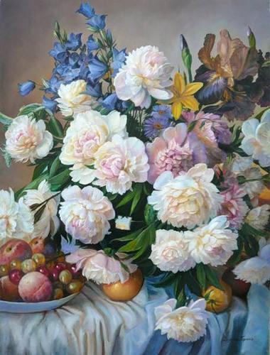 Пионы польского художника Zbigniew Kopania