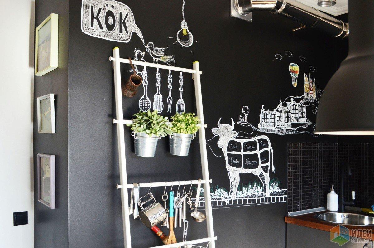 Черно-белая кухня, аксессуары для кухни