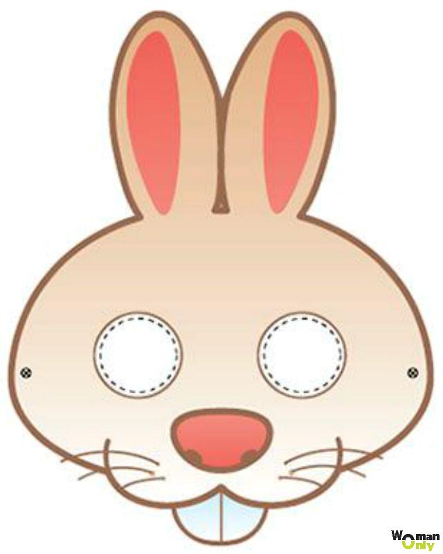 Новогодние маски из бумаги - праздник уже с вами маска зайца